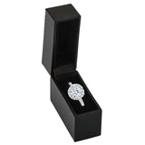 Discreet Thin Slim Black Ring Box - Thin Ring Box