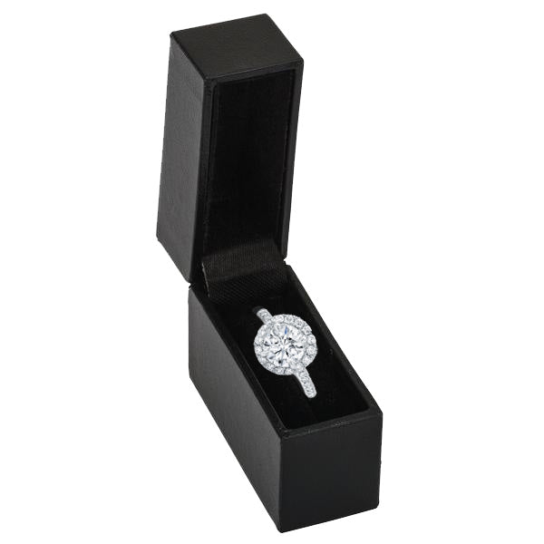 black small discreet ring box