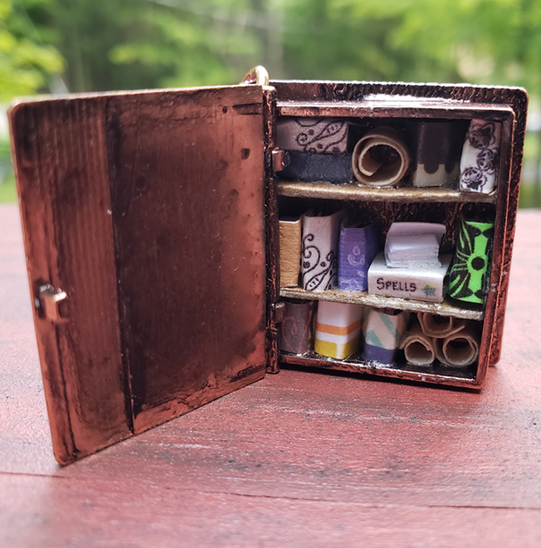 Book Locket Library with Spellbook