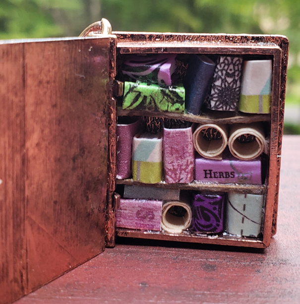 Book Locket Library with Book of Herbs