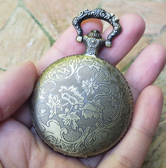 Pocket Watch Library with Griffin, Antique Gold