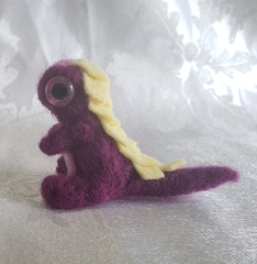 Damson Purple Needle Felted Dragon