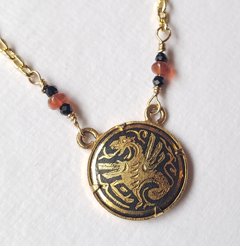 Damascene Dragon Medallion