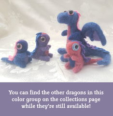 Little Pink Needle Felted Dragon