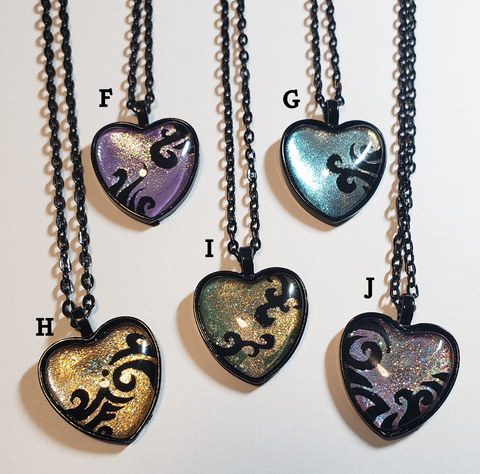 Hand-Painted Heart Pendant