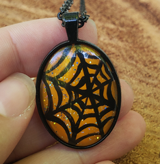 Spiderweb Pendant Orange