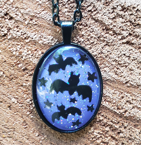 Bats Pendant Purple