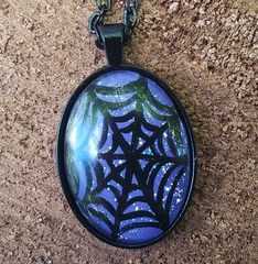 Spiderweb Pendant Purple