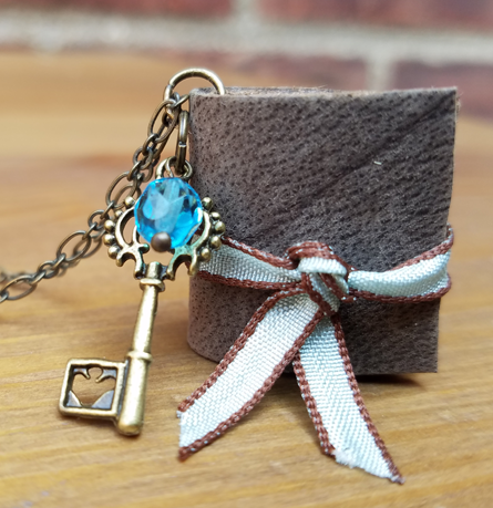 Illustrated Miniature Book Necklace