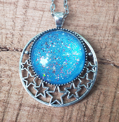 Magic Mermaid Starry Crescent Pendant