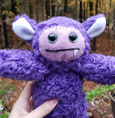 One-Fanged Purple Cozy Monster