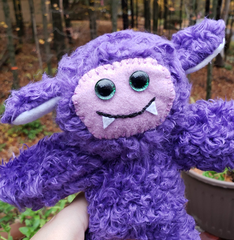 Smiley Purple Cozy Monster