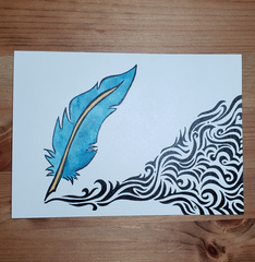 Whimsy Quill Ink & Gouache 5x7