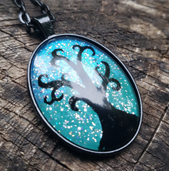 Hand-Painted Tree Pendant