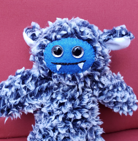 Stubborn Blue Cozy Monster