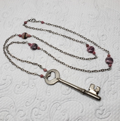 Heart Vintage Key Necklace
