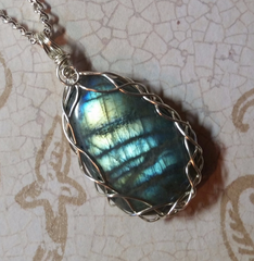 Labradorite Wire Wrapped Pendant