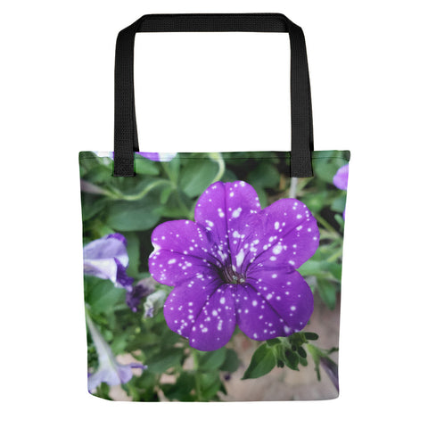 Single Night Sky Petunia Tote bag