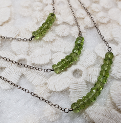 Peridot Three Tier Necklace