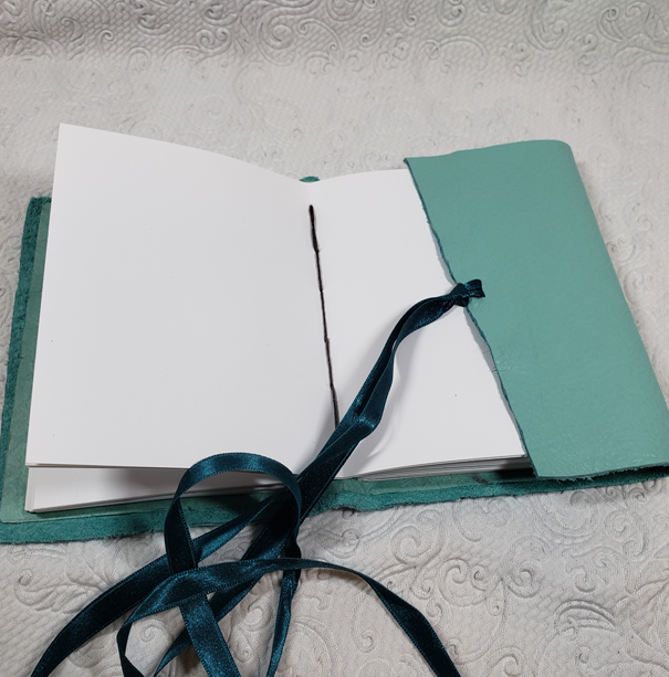 Sea Foam Leather Journal