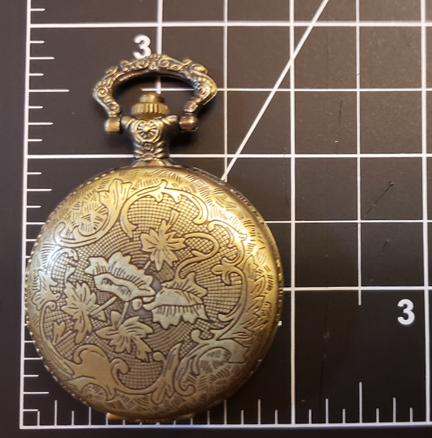 Pocket Watch Library with Black Cat & Star, Antique Gold