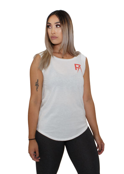 Freak Athletiq Ladies Sleeveless Tank - White