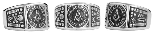 Blackmer Lodge 127 - Custom Lodge Ring - Stainless Ring Crafters