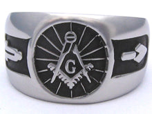 Masonic Emblem Ring with Working Tools - Stainless Ring Crafters