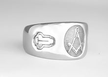 Masonic Emblem Ring without 'G' - Stainless Ring Crafters