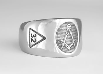 Masonic Emblem Ring w/ No 'G' - Stainless Ring Crafters