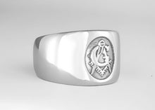 Big 'G' - Masonic Emblem Ring - Stainless Ring Crafters