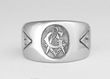 Big 'G' Masonic Ring - Stainless Ring Crafters