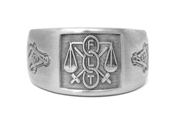 Odd Fellows Ring w/ Masonic - Stainless Ring Crafters