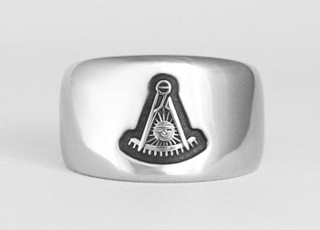 Past Master Emblem Ring - Stainless Ring Crafters
