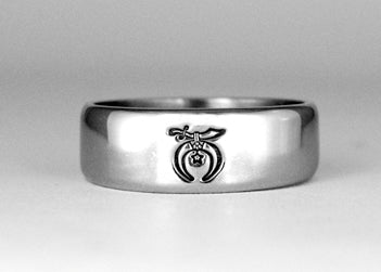 Thin Band Shriner Ring - Stainless Ring Crafters
