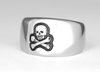 Skull and Crossbones Ring - Stainless Ring Crafters
