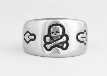 Skull & Crossbones Ring - Stainless Ring Crafters