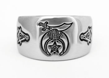 Shriner and Masonic Ring - Stainless Ring Crafters