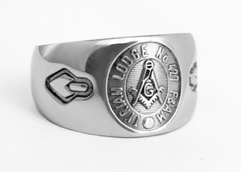 Tyrian Lodge 427 - Custom Lodge Ring - Stainless Ring Crafters