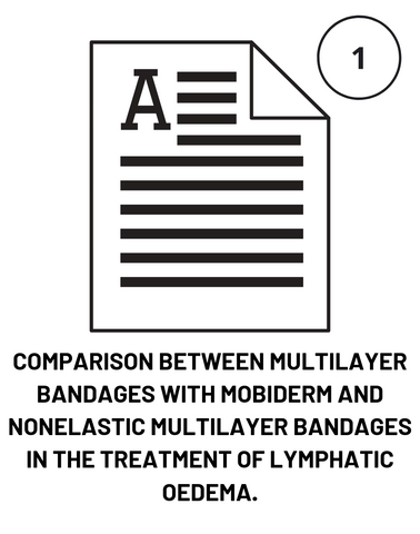 COMPARISON BETWEEN MULTILAYER BANDAGES WITH MOBIDERM AND NONELASTIC MULTILAYER BANDAGES IN THE TREATMENT OF LYMPHATIC OEDEMA.