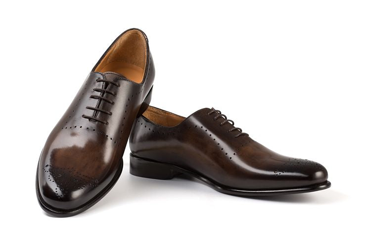 AVIMA LEATHER SHOES DANTE - Brown