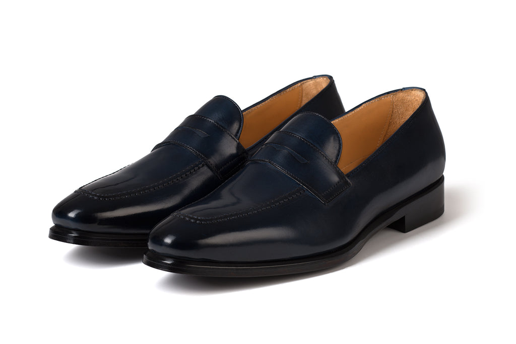 AVIMA LEATHER LOAFER PICASSO - BLUE