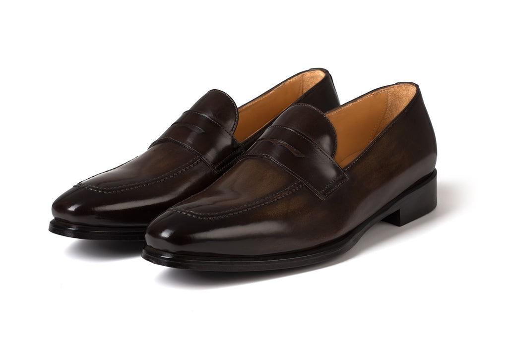 AVIMA LEATHER LOAFER PICASSO - BROWN