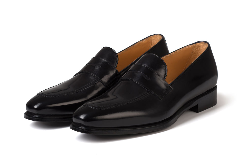 AVIMA LEATHER LOAFER PICASSO - NERO