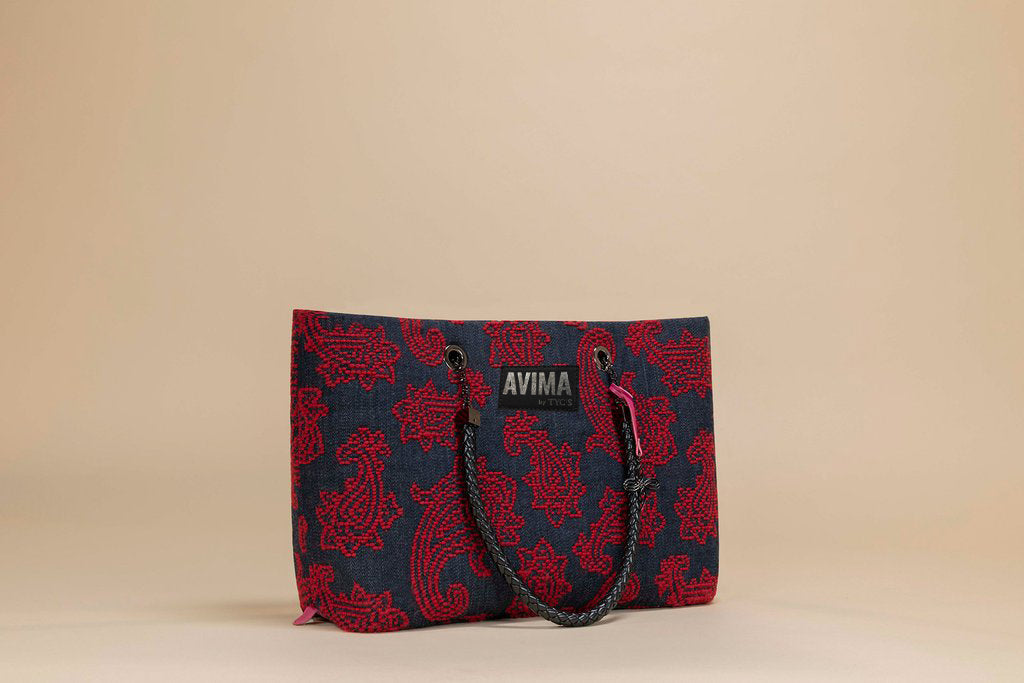 Denim Blue/Red - Full Bag