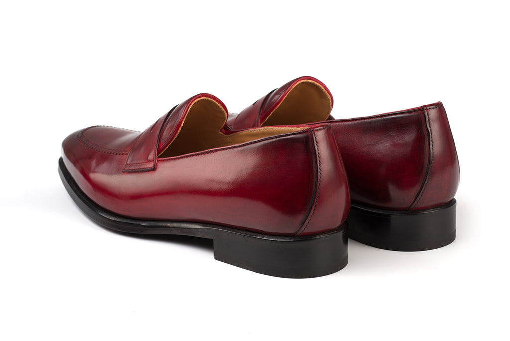 AVIMA LEATHER LOAFER PICASSO - RED BLADE