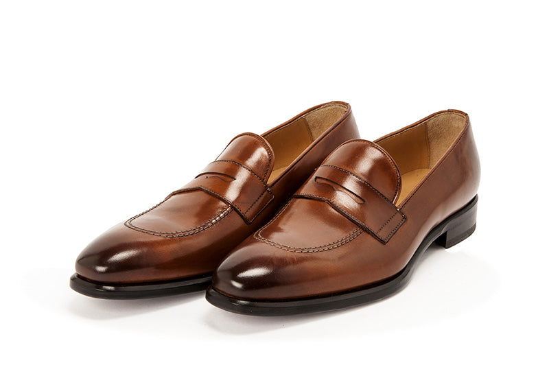 AVIMA LEATHER LOAFER PICASSO - MARRONE