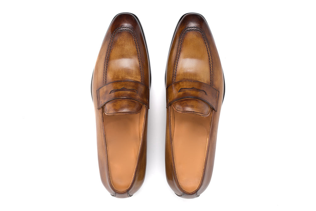 AVIMA LEATHER LOAFER PICASSO - CUOIO
