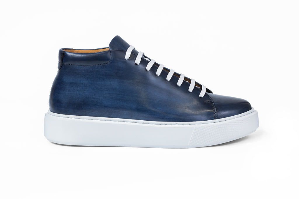 AVIMA LEATHER SHOES JACKSON - BLUE