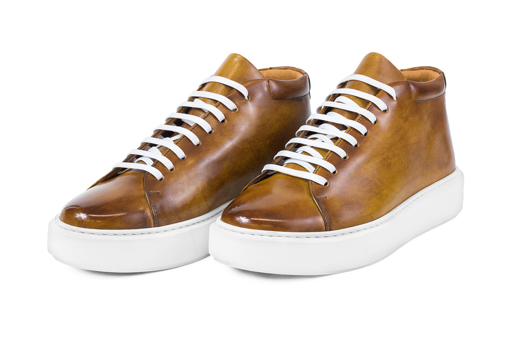 AVIMA LEATHER SHOES JACKSON - CUOIO